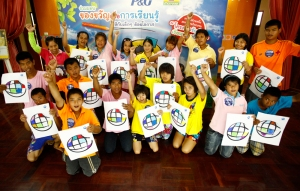 United Nations and P&G take UN global survey to school for disabled Thai children