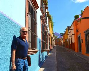 """Really, climate change is my biggest fear in life. I'm worried because I have have 9 grandchildren. In the short term it may actually help San Miguel, because we're getting a better spread of rain. But the long run, the long run's a different story"" — in San Miguel de Allende, Mexico."