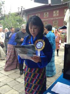 Queen Mother of Bhutan also voted for MY World (Riikka Suhonen/UNV 2014)