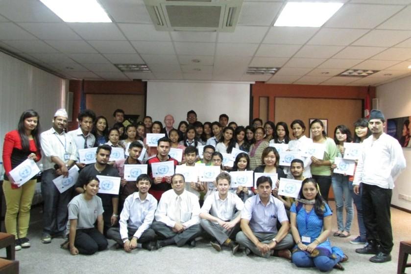MY World Survey volunteer ceremony