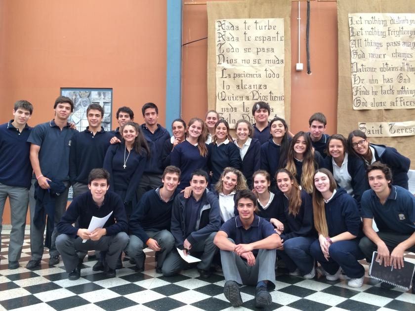 Students from Santa Teresa School in Salta, Argentina support MY World!