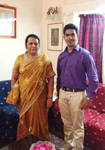 Aakash with Ms. Neelam Gorhe (Member of Legislative Assembly , Maharashtra , India) who gave her commitment to supporting MY World 2015 & the World We Want 2015 and Beijing +20