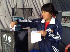 girl voting