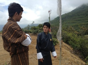 Kencho Dorji, 22, Bhutanese youth volunteer who co-facilitated the workshops of the Post-2015 advocacy tour, and Wangdi Phuntsho, 22, one of the active volunteers for the MY World campaign in Bhutan.