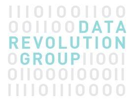 Data Revolution Logo for Napkins