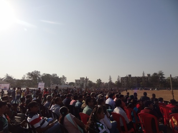 Thousands of Students and Public Gather for the Event