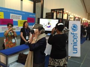 Executive Directors Phumzile Mlambo-Ngcuka UN Women and Irina Bokova, UNESCO visit the exhibit