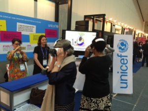 Executive Directors Phumzile Mlambo-Ngcuka UN Women and Irina Bokova, UNESCO visit the exhibit