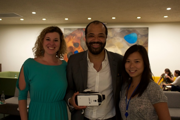UNMC Colleagues Kristin & Alice with actor Jeffrey Wright