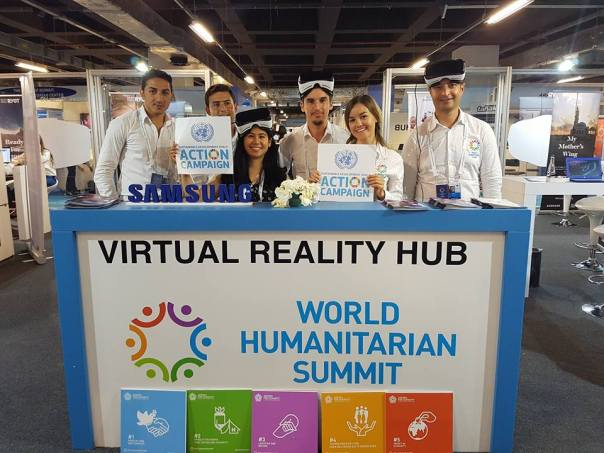 Virtual reality hub at the World Humanitarian Summit