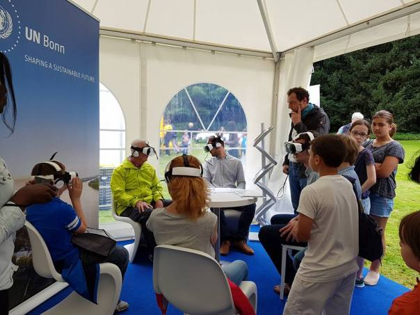 Visitors experience virtual reality films