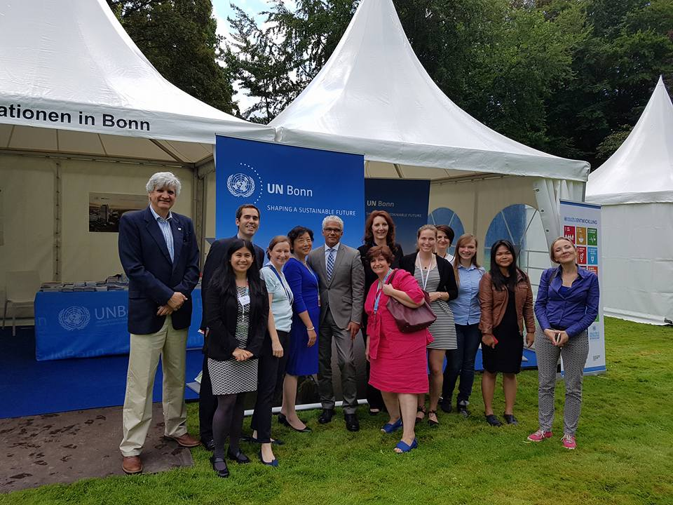 UN team with the Mayor of Bonn Ashok-Alexander Sridharan, at Villa Hammerschmidt